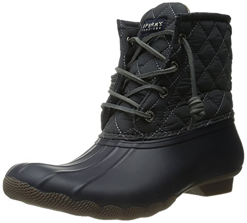 Sperry Top-Sider Women's Saltwater Quilted Nylon NY Gy Rain Boot, Navy/Grey, 10 M US by Sperry Top-Sider