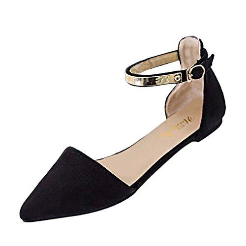 Elegantes Las con Zapatos Zapatos La Casuales La Los Elegantes Tarde Negro Bajos keephen Zapatos de de negro Tacones Mujeres Moda de qztWy6Z