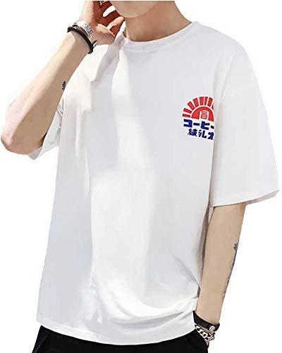 b1eb9883ace2da Gobuye tシャツ メンズ 半袖 Tシャツ 五分袖 Tシャツ 七分袖 綿100% 無地 ...