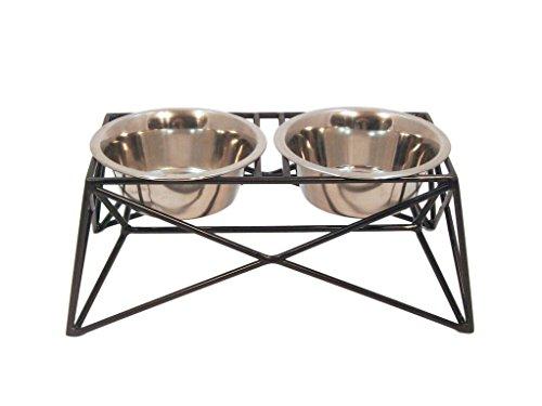 Martin|Deutschman Wire Dog Bowl Feeders, Bronze Metallic Finish by B & G Martin