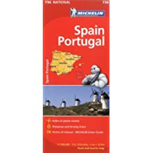 Michelin Spain & Portugal Map 734