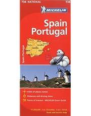 Michelin Spain & Portugal Map 734