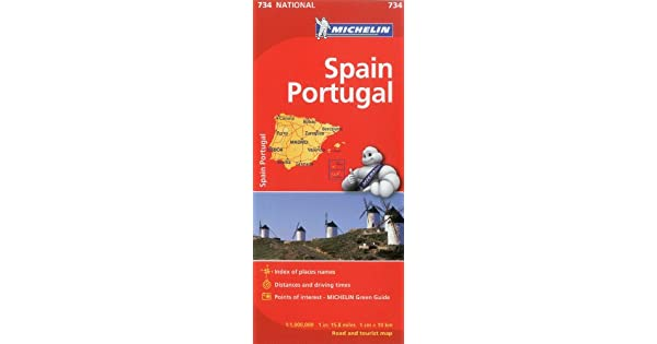 Amazon.com: Michelin Spain & Portugal Map 734 (Maps/Country ...
