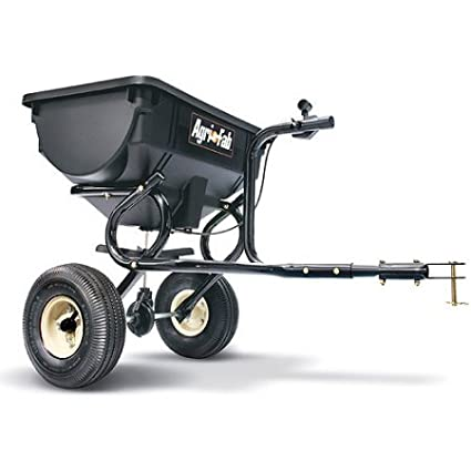 10 x 4 Pneumatic Tires, Tow Broadcast Spreader, Black