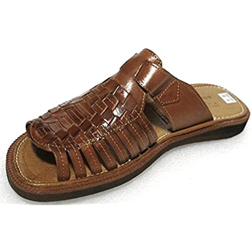 60704d9fa1aa34 Men s authentic leather soft handmade Sandals (451-1) flip flop slip on  Huaraches