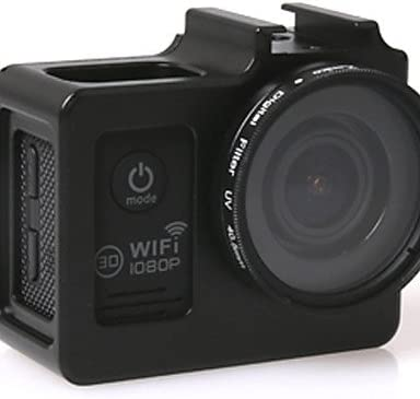 CNC Aluminum Alloy Frame Protective Case w//UV Len for SJ4000 SJ4000WIFI SJ6000 Camera Black