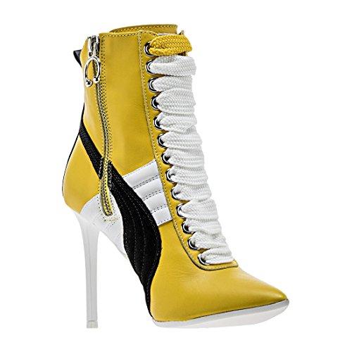 PUMA Women's High Heel Leather Rihanna Dandelion/Puma White/Puma White Athletic Shoe by PUMA