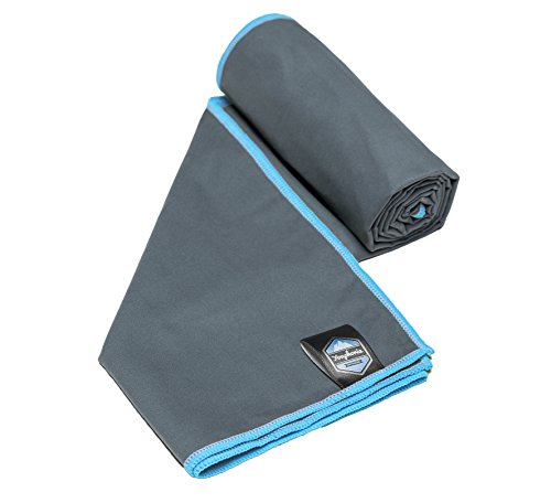 Youphoria 32x72-Inch Towel, Gray/Blue