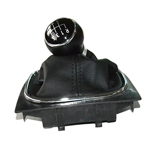 (Gear Shift Knob With Boot 1K0711113CG For VW Golf 5 6 V MK5 04-09 Jetta 5 Mk5 06-11 6 Speed)