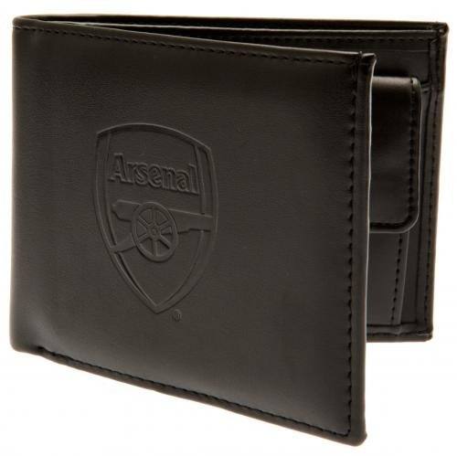 Arsenal FC - Authentic EPL Debossed Crest Leather Wallet in Gift Box