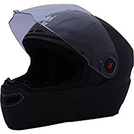 Steelbird Air SBA-1 Glossy Full Face Helmet (Black, L)