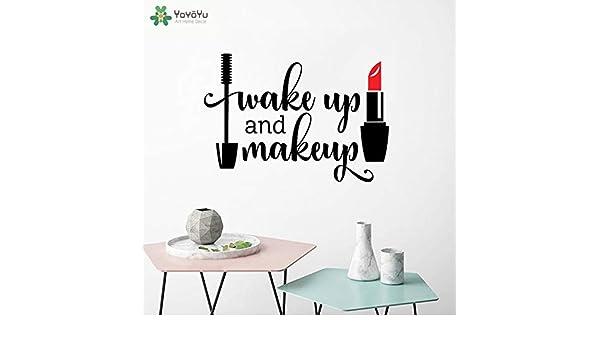 Ajcwhml Tatuajes de Pared Salón de Niñas Despertar y Maquillaje de ...
