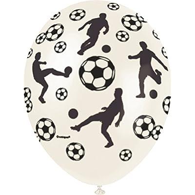 Unique Party 80262 - Ballons Football Nacrés - Latex - 30 cm - Modèle aléatoire