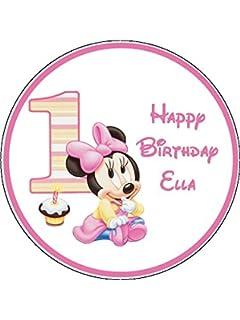 Tortendeko 1geburtstag Minnie Mouse Baby 9 Teilig Tortenaufleger