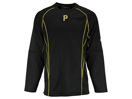 Majestic Pittsburgh Pirates MLB Men's Black On-field Practice Pullover Sweatshirt (S) ()