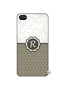 Monogram Initial Letter R iPhone 5 Quality Hard Snap On Case for iPhone 5/5s - AT&T Sprint Verizon - White Case by icecream design