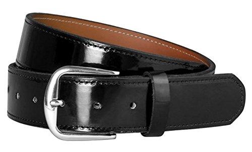 (Champro Adult Patent Leather Baseball Belt Black M)