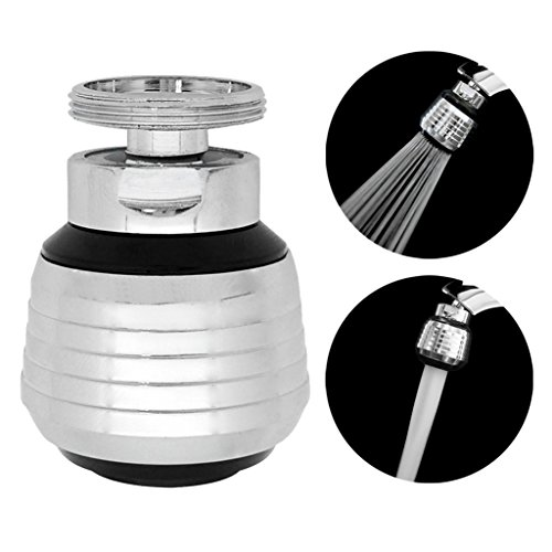 Male Aerator (Kabter 360-Degree Swivel Dual-Spray function 2-Flow Kitchen Sink faucet Aerator with 15/16