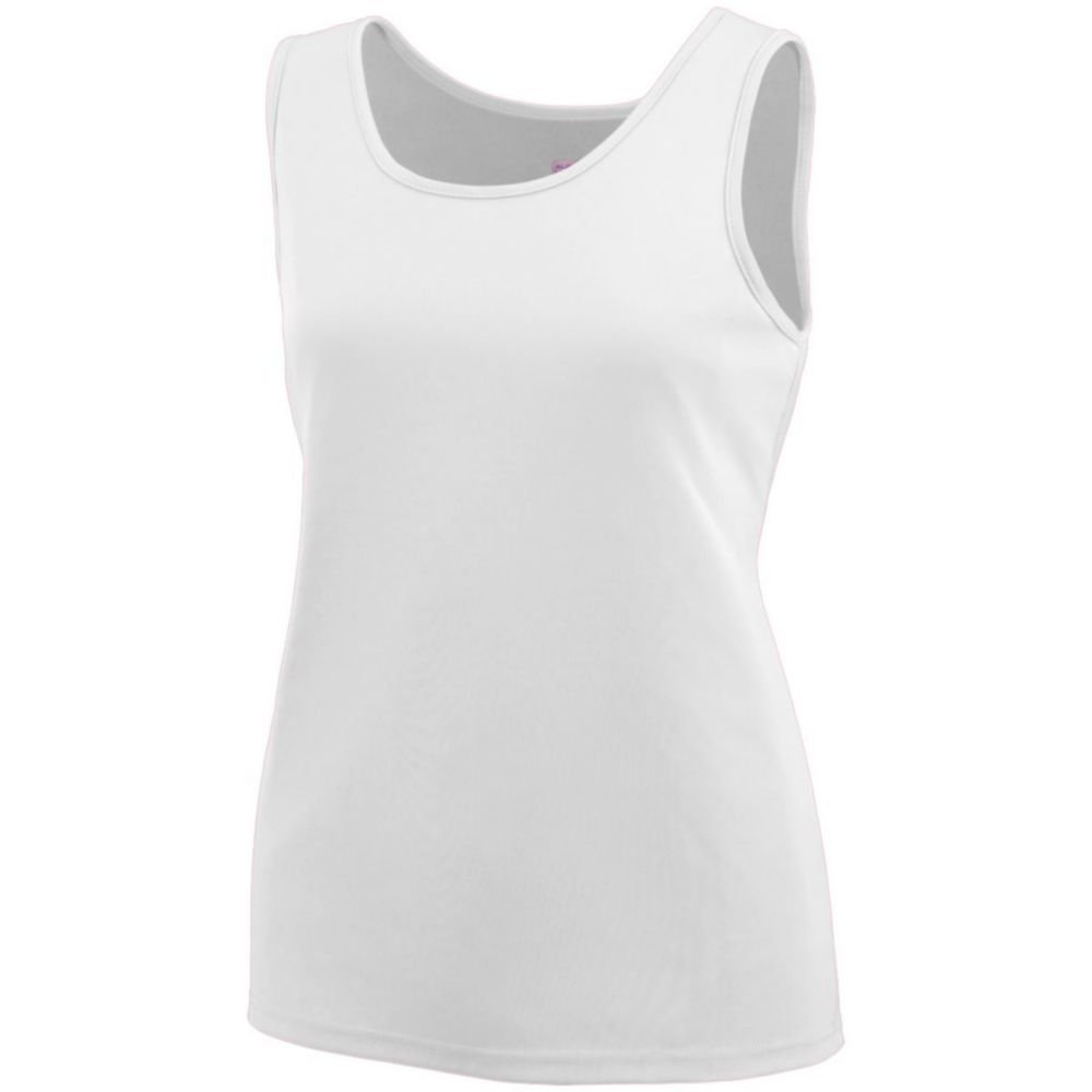 Large Augusta Sports Girls Training Tank White