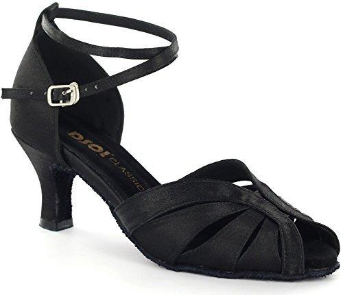DSOL Women's Latin Dance Shoes DC271308 (9.5, Black)