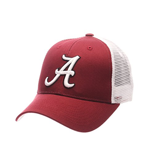 Trucker Mesh Cap Adjustable (ZHATS NCAA Alabama Crimson Tide Big Rig Trucker Mesh Adjustable Hat/Cap)