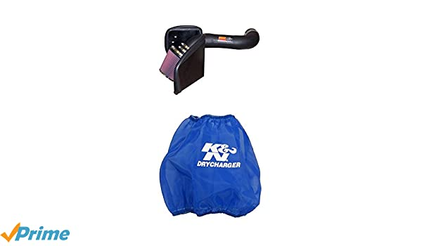 K/&N 57-1546 Performance Air Intake System with Blue Air Filter Wrap