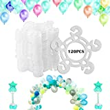 Tinabless Balloon Clips(120 pcs), Balloon Connectors for Decor Balloon Arch, Balloon Column Stand and Balloon Flowers