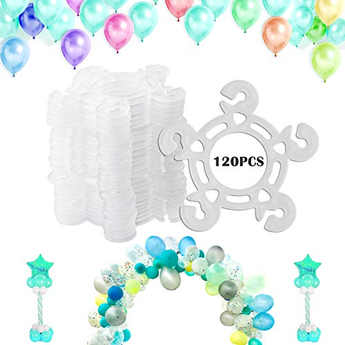Tinabless Balloon Clips(120 pcs), Balloon Connectors for Decor Balloon Arch, Balloon Column Stand and Balloon Flowers -