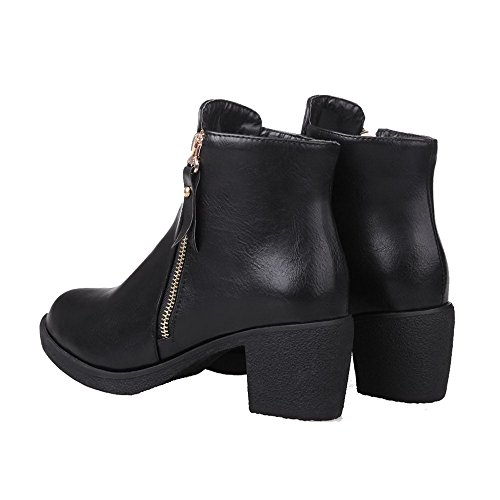 AgeeMi Cremallera Mujer Puntera Shoes Cerrada Tac r7wOrqS