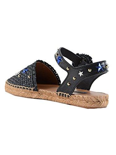 Dolce E Gabbana Vrouwen Ce0089ag4878b956 Zwart Lederen Sandalen