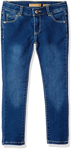 GUESS Little Girls' 5 Pocket Knit Denim Jean, Pourpre/Ame...