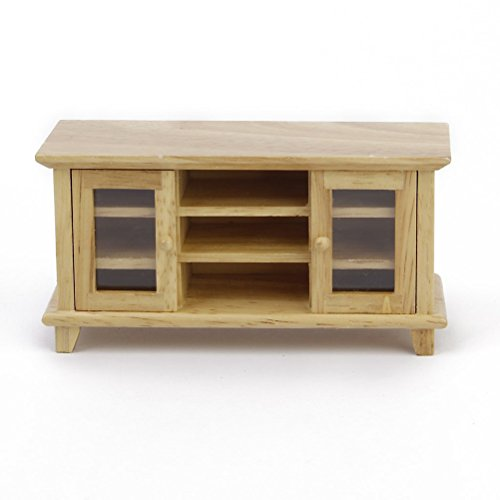 NUOLUX 1:12 Doll House Miniature Furniture Wooden TV Cabinet Living Room Set Wooden Make Up Dollhouse Furniture Accessories