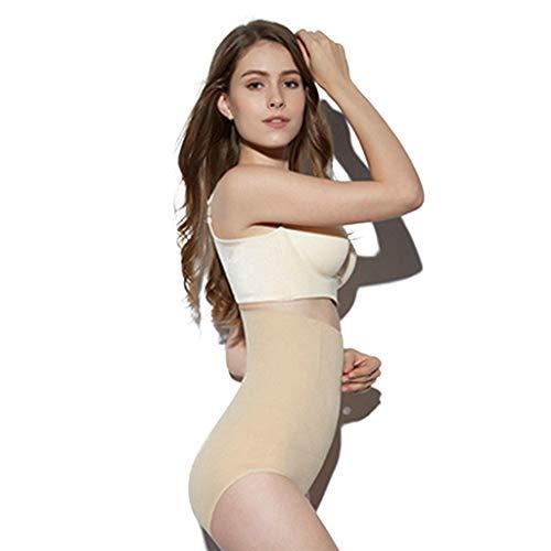 Emimarol Women Tummy Control Underwear High Waist Briefs Breathable Ladies Hip Beauty Body Shaping Lingerie Set -