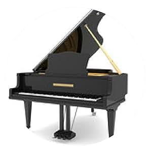 alfombrilla de ratón Negro piano de cola - ronda - 20cm