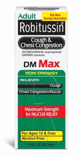 Robitussin Cough & Chest Congestion DM Max, 8-Ounce Boxes (Pack Of 2)