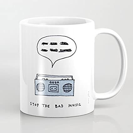 Christmas Presents For Brother.Amazon Com Stop The Bad Music Mugs Unique Husband Gifts