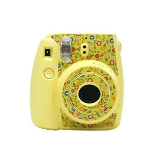 CAIUL Decor Sticker For Fujifilm Instax Mini 8, Flower Design, Yellow NodArtisan