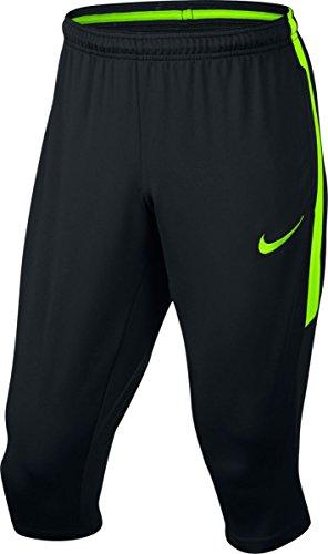 Nike Men's Dry Squad Three Quarter Length Soccer Pants (Black/Black, Medium)