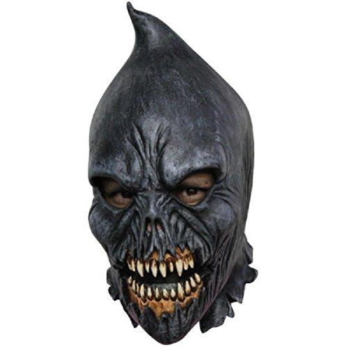 Medieval Torturer Costume (Scary Evil Executioner Adult Latex Mask Black Medieval Hooded Torturer Halloween)