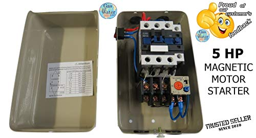- Magnetic Electric Motor Starter Control 5 Hp Single Phase 220/240v 22-34a with On/off Switch