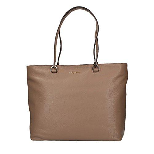Coccinelle Keyla Leather Shoulder Bag 33 Cm Taupe