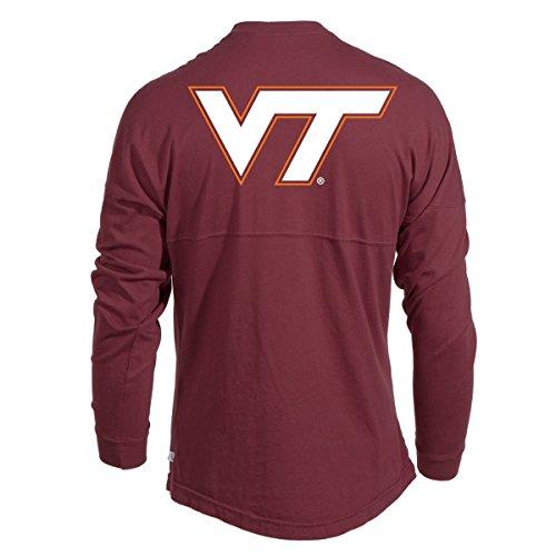 Spirit Fighting T-shirt (Official NCAA Virginia Tech Hokies VT Fighting Gobblers! Women's Long Sleeve Spirit Wear Jersey T-Shirt)