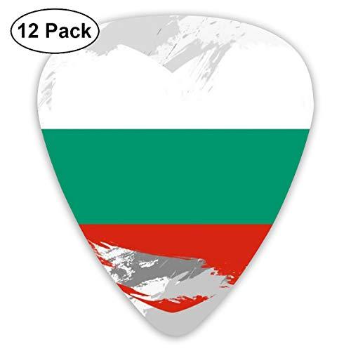 Flag Of Bulgaria Small Medium Large 0.46 0.73 0.96mm Mini Flex Assortment Plastic Top Classic Rock Electric Acoustic Guitar Pick Accessories Variety Pack ()