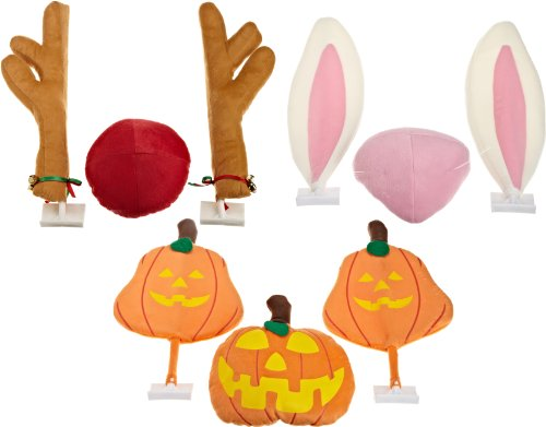 - Mystic Industries Reindeer, Pumpkin and Easter Bunny Three Seasons Vehicle Costumes, (Pack of 3)