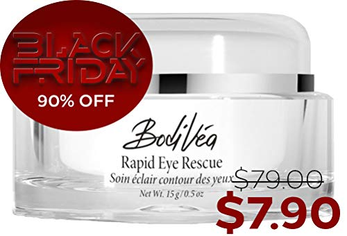 BodiVéa Rapid Eye Rescue, Best Eye Cream for Dark Circles, Puffy Eyes,  Under Eye Bags, Wrinkles, Fine Lines and Crows Feet with Natural Botanicals
