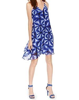 Womens Petites Chiffon Halter Sundress Blue 6P