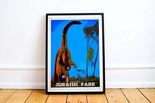 Brachiosaurus Poster - MugKD LLC Jurassics Park Poster Movies - Brachiosaurus Poster Movies Gifts for Fan [No Framed] Poster Home Art Wall Posters (16x24)