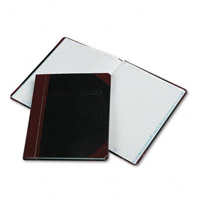 Boorum & Pease L21300R Laboratory Record Book,300 Pages,8-1/8''x10-3/8'',Black/Red