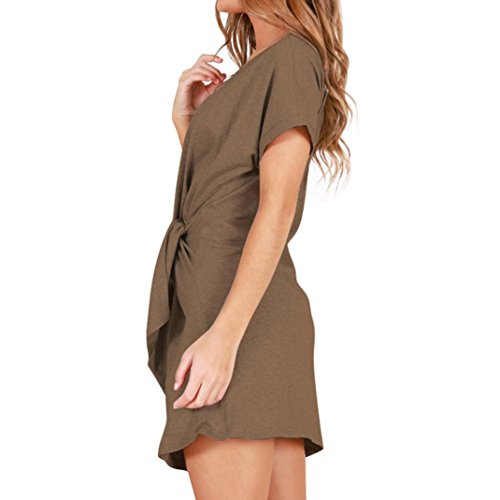 Mini Neck Robe Sexy Kaki Bandage O Courtes Robe ITISME Manches Robe Femme Fashion a1Sw8fqnX