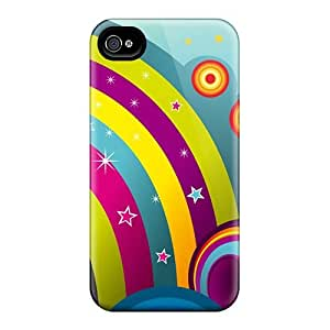 Top Quality Rugged Vector Rainbows Case Cover For Iphone 5/5s